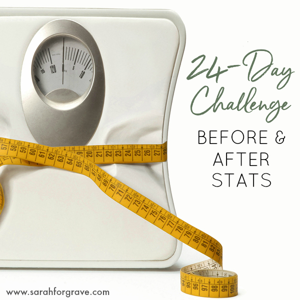 24-Day Challenge: Before and After Stats