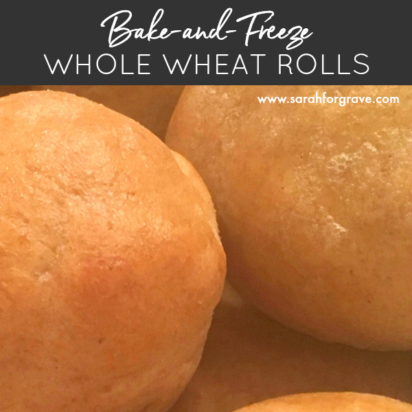 Bake-and-Freeze Whole Wheat Dinner Rolls Recipe (for Bread Machine)