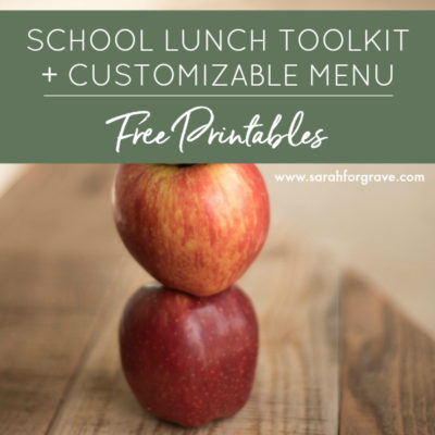 Free Printables: School Lunch Menu + Lunchbox Toolkit