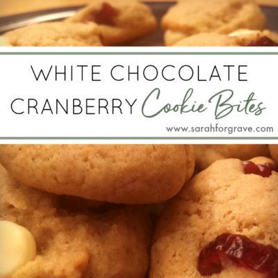 White Chocolate-Cranberry Cookie Bites Recipe