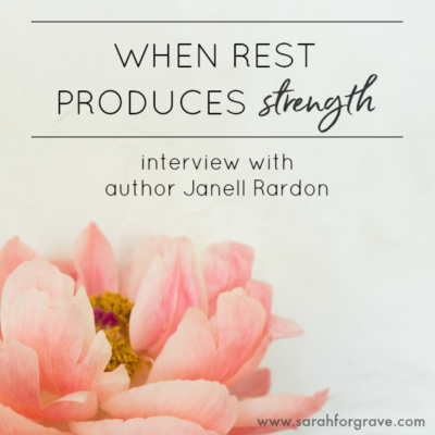 When Rest Produces Strength